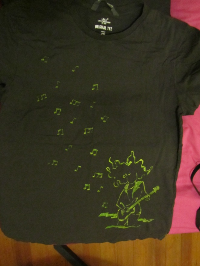 Stamped t-shirt or super cool present / Camiseta estampada o regalo chachi guay